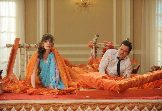 New Girl What happens:  Schmidt and Winston successfully stop Cece's wedding. Taylor Swift shows up as Shivrang's ex, and they run off together. Nick and Jess finally decide to be together.  Most shocking moment: Schmidt flees after being forced to choose between Cece and Elizabeth.