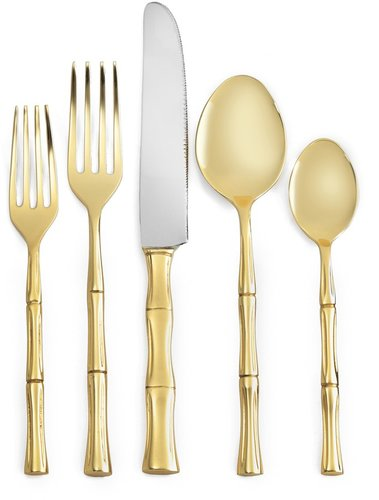 Gold Bamboo 5 Piece Place Setting