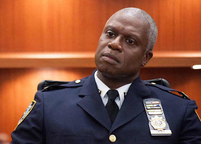 Emmy Award winner Andre Braugher in Brooklyn Nine-Nine.