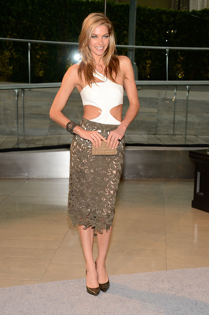 Jessica Hart's Rachel Roy number surely turned heads.
