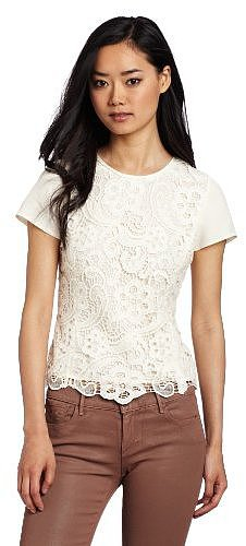 Rebecca Taylor Women's Lace Tee