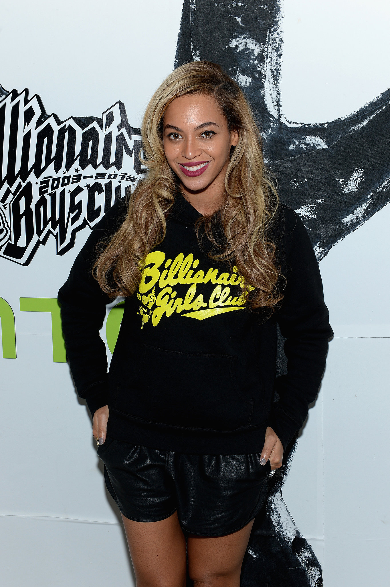 beyonc knowles wore a billionaire girls club hoodie to. Black Bedroom Furniture Sets. Home Design Ideas