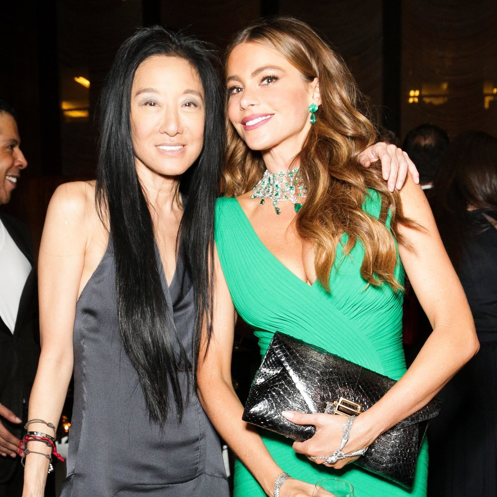 Vera Wang and Sofia Vergara (wearing Hervé Leroux) at Vera Wang's Lifetime Achievement Award Celebration in New York. Photo: Benjamin LozovskyBFAnyc.com