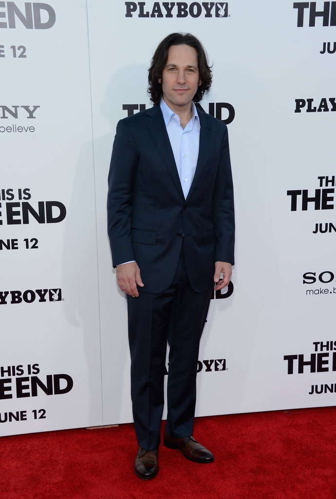 Paul Rudd was in attendance at the This Is the End premiere in LA.