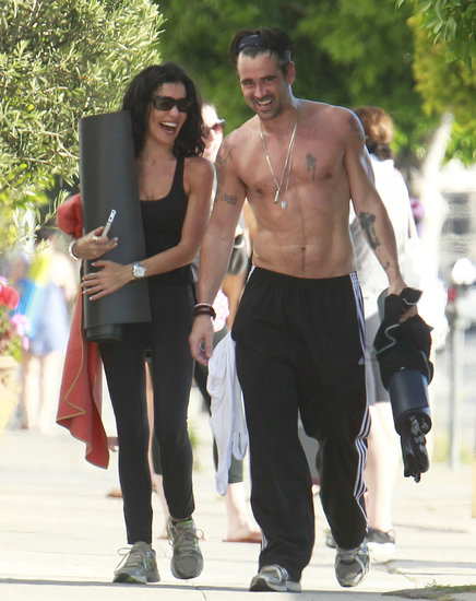 Colin Farrell Works Up a Shirtless Sweat