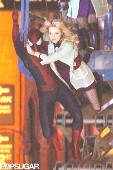 Andrew Comes to Emma's Rescue on Set