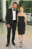 Riccardo Tisci with Jessica Chastain. Source: Neil Rasmus/BFAnyc.com