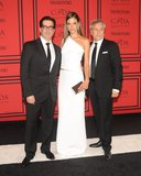 Alessandra Ambrosio with KaufmanFranco designers Ken Kaufman and Isaac Franco. Source: Joe Schildhorn/BFAnyc.com
