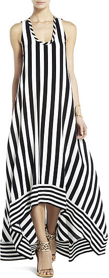Stripe lovers can take their adoration to the beach in this BCBG Max Azria striped high-low dress ($548).