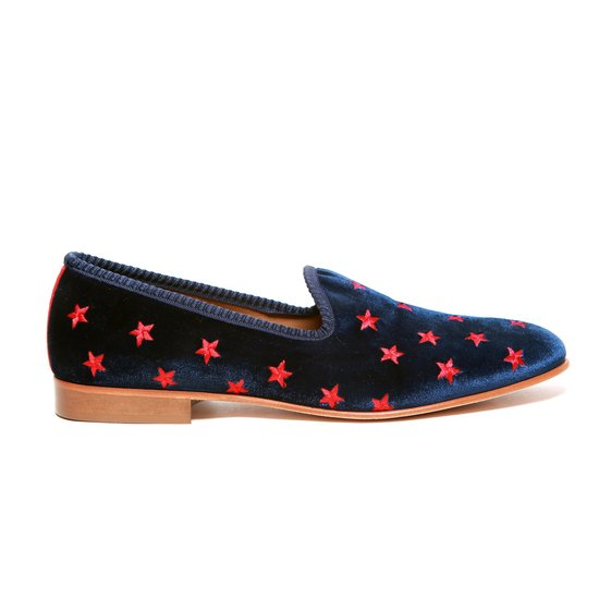 A stylish father will love Del Toro's dapper, star-speckled smoking slippers ($340).