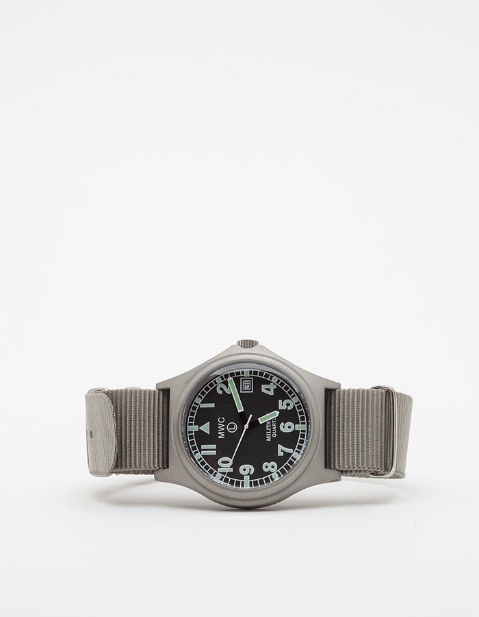 Outdoorsy types will happily improve their punctuality with Military Watch Co.'s nylon strapper ($160).