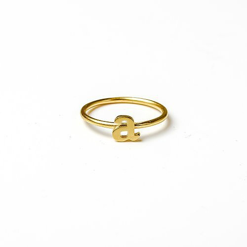 open a ring, gold dipped, size 5