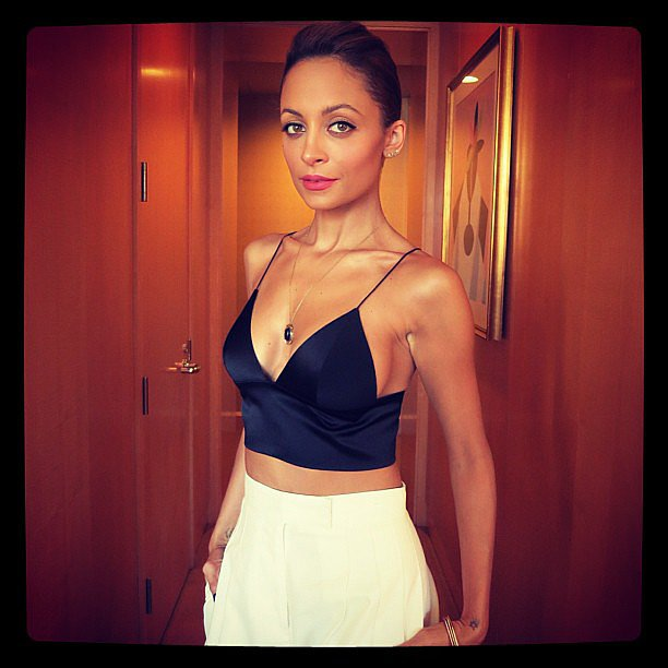 Nicole Richie flaunted her toned figure in a slinky crop top before heading to the Today show. Source: Instagram user nicolerichie