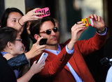 Bradley Cooper was more than comfortable surrounded by camera phones at the LA premiere of The Hangover III in May 2013.