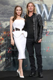 Brad Pitt and Angelina Jolie posed at the Berlin premiere of World War Z.