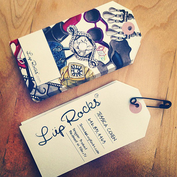 Forget the rectangle model. These tag-shaped business cards are nothing but fun. Source: Instagram user cecijohnson