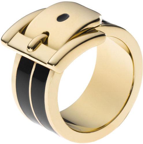 Michael Kors Buckle Ring, Golden/Black