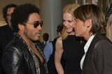 Lenny Kravitz chatted with Nicole Kidman and Keith Urban backstage at the CMT Awards.