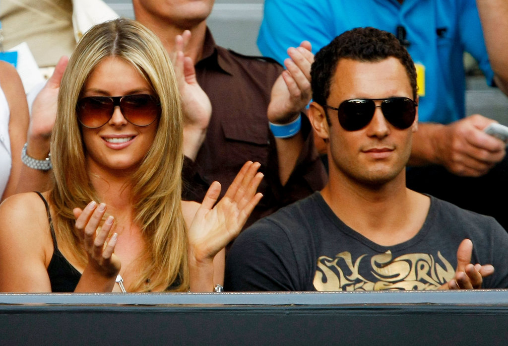 Jennifer and Jake cheered in the stands at the 2008 Australian Open.
