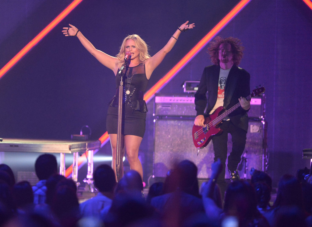 "Miranda Lambert belted out ""Mama's Broken Heart."""