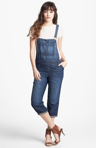 J Brand Crop Denim Overalls