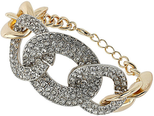 Rhinestone Curb Chain Bracelet