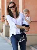 Jennifer Garner carried blond Samuel.