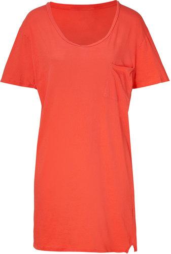 American Vintage Grapefruit Cotton T-Shirt Dress