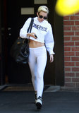 Miley Cyrus wore a Dimepiece sweatshirt in LA.