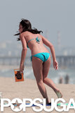 Desiree Hartsock wore a blue bikini in LA.