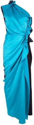 Lanvin asymmetric one-shoulder gown
