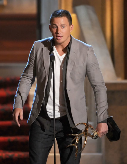 Channing Tatum spoke to the audience during the 2012 Guys Choice Awards.