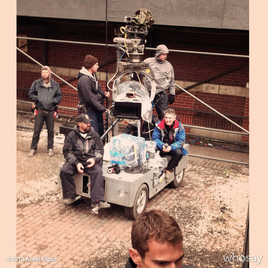 Spotted: Theo James (on the bottom right), aka Four, on the set. Source: Ansel Elgort on WhoSay