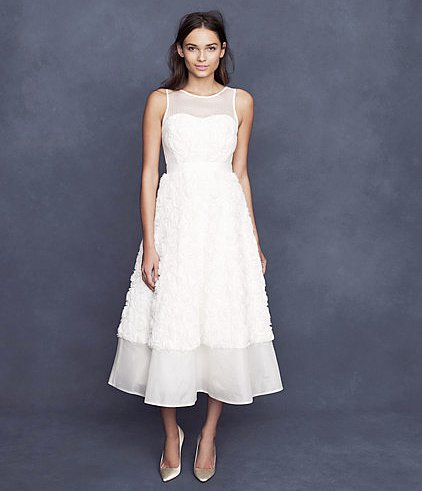 Want a vintage-inspired look for your big day? Then go for this J.Crew bridal tea-length dress ($795).