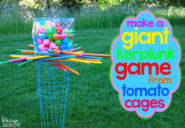 Make a Giant Outdoor Kerplunk Game From Tomato Cages