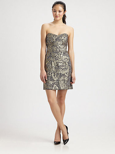 Milly Strapless Sequin Dress