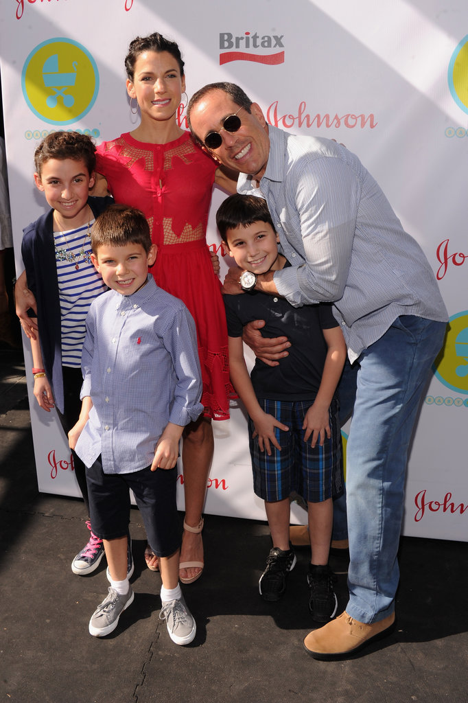 Jerry Seinfeld joked around with his kids.