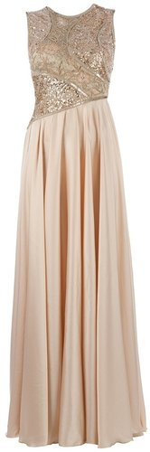 Georges Mak sequin embroidered long dress