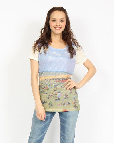 【ビッキー】ビーチプリントTシャツ