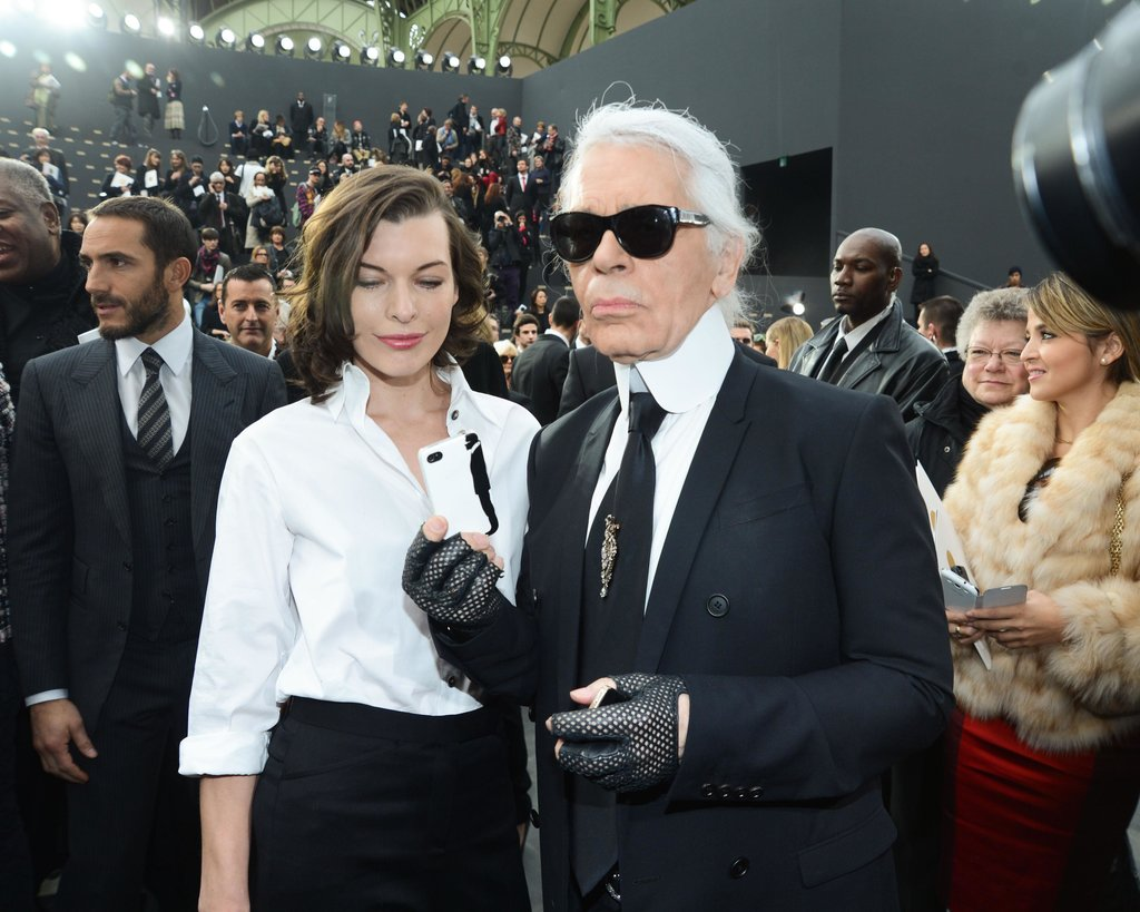 """The iPod is genius. I have 300.""  — Karl Lagerfeld on his iPod obsession, according to Vogue UK. Source: Billy Farrell/BFAnyc.com"