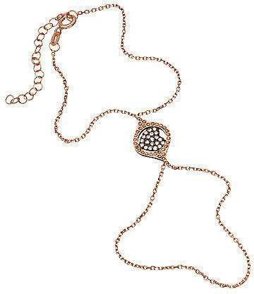 Blee Inara Crystal Heart and Rose Gold Harem Bracelet