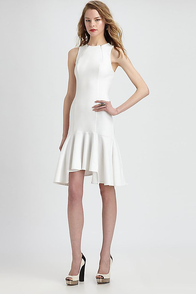The ruffle hem on this Fashion Star sheath dress by Hunter Bell ($206) will come in handy when you hit the dance floor.