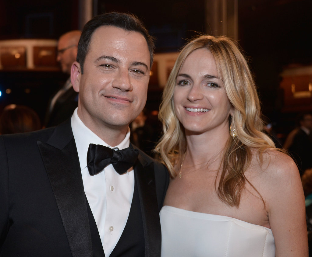 Jimmy Kimmel brought his fiancée, Molly McNearney, to the bash.