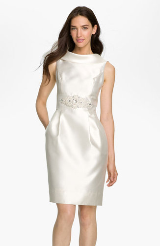 Eliza J Cowl Collar Mikado Woven Dress