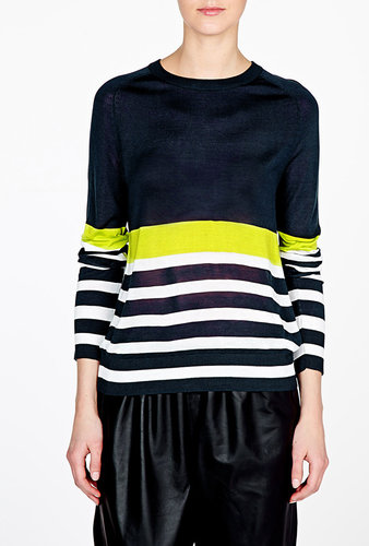 Equipment Peacoat Neon Canary Sloane Crew Jumper