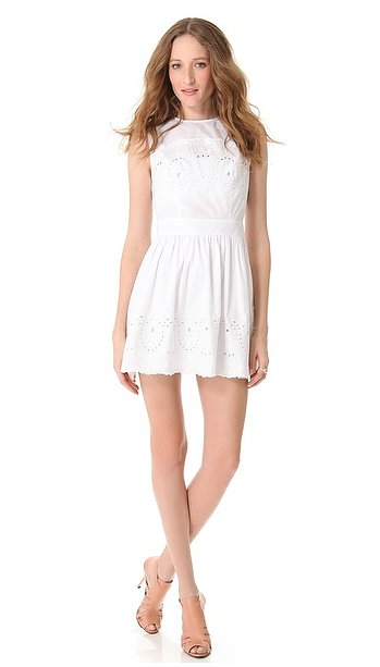 We can see Lover's broderie skating dress ($437) blooming in a gorgeous garden setting.