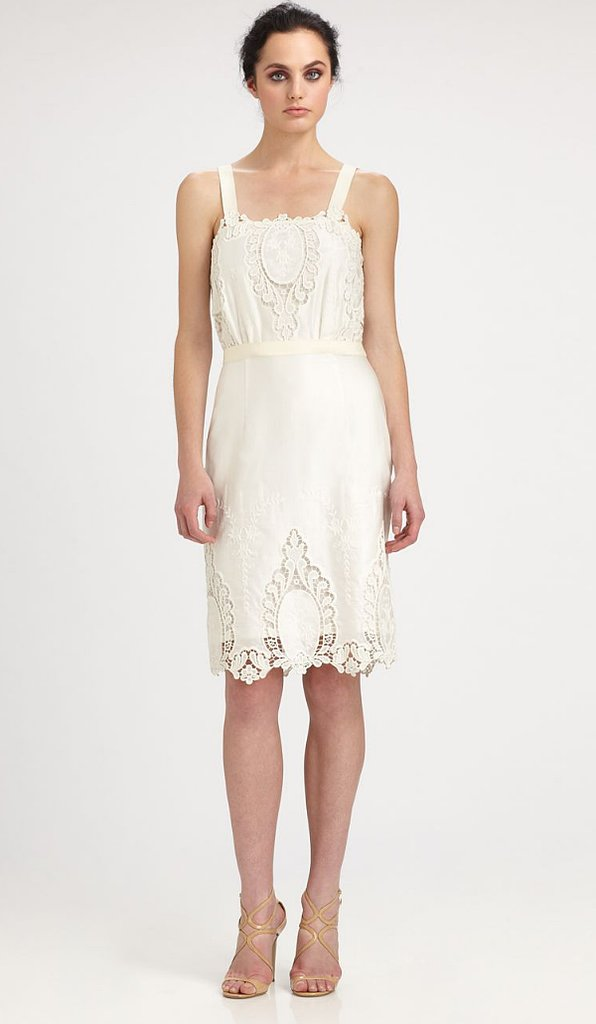 Rachel Roy's cotton silk lace dress ($398) is perfect for the classic lady. Add a few pearl accents to finish.