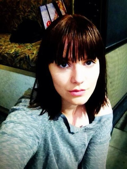 Amy C. Newbold plays Molly in the film and snapped a selfie in her trailer. Source: Twitter user newbieames