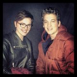 Miles Teller was excited to see Veronica Roth on the set. Source: Instagram user milest87