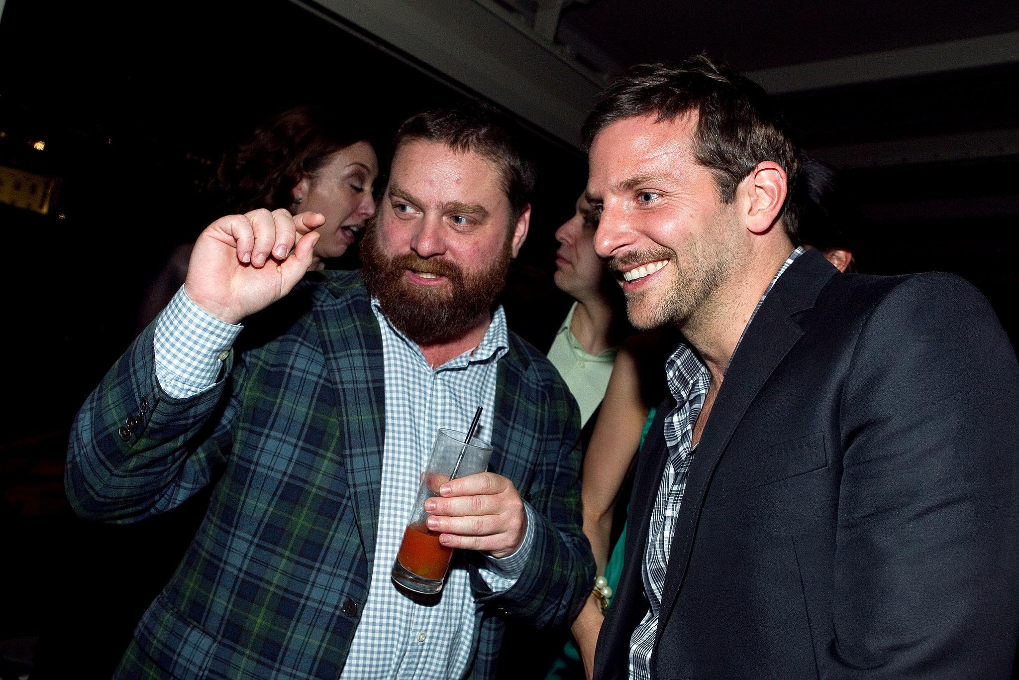 Zach Galifianakis and Bradley Cooper